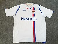 MAILLOT FOOTBALL PORTE WORN SHIRT ANCIEN VINTAGE UMBRO OLYMPIQUE LYONNAIS OL