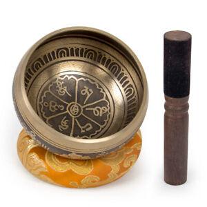 AKLOT Singing Bowl Himalaya Tibeten from Nepal 3.7 inch for Meditation Yoga