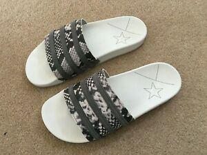 Adidas Adilette Slides. White. Size 8. Worn Once
