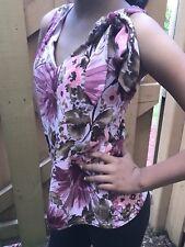 Byer Wear Womens Sleeveless Top Floral Size Medium