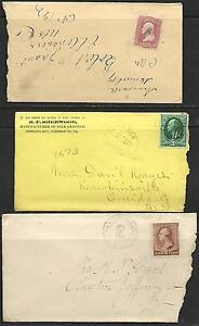 Vintage 3 -8/15/1867 -19th CENTURY COVERS,  # 65 -3¢ Wash, # 207 - 3¢ Wash