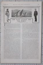 1901 PRINT NAVY LEAGUE & THE PUBLIC FRENCH MAN-O-WAR BOAT RUSSIAN NAVAL CADET