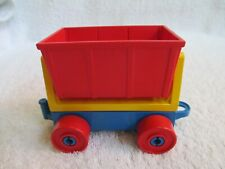 Blue base Lego Duplo Train Car w/ red dump bin Vguc Not for use on tracks