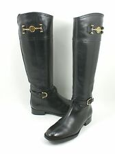 Tory Burch 'Nadine' Riding Boot Black Leather Size 6.5