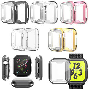 TPU Case Cover Frame Bumper Skin Protective for Watch 1/2/3/4/5/6/SE Smart Watch