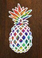 Aloha Hawaii Pineapple Sticker - Surf Waves Islands Tropical Beach Aloha Roxy