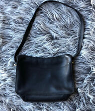 Vintage SPORTCOACH black Leather Purse Handbag Crossbody