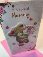 Mother's Day card (SPECIAL MUMMY) flowers SIZE 9X5 inch words WISHES quality