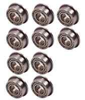 10PCS 5*10*4mm Bearing MF105ZZ Double Shielded Flanged Ball Bearings 5*10*4mm