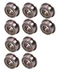 10PCS 5*10*4mm Bearing MF105zz Double Shielded Flanged Ball Bearings 5*10*4mm