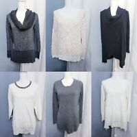 Lot of 6 Career Style Sweaters Women's size LARGE