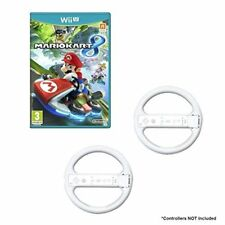 Mario Kart Game Bundle With 2 Wii Wheels White For Wii U Very Good