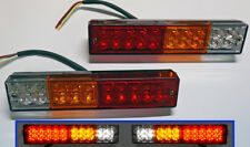 PAIR 12V LED REAR TAIL LIGHTS LAMPS TRAILER TRUCK CHASSIS CAB VAN TIPPER 20 LED