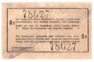 Deutsch Ostafrika 1 Rupie 1916 Seriennummer handschriftlich verbessert 7802702