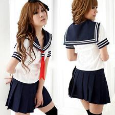 New Ladies Cosplay Japanese School Girl Students Sailor Uniform Anime Costume