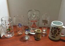 German Beer Mugs Glass Stein Collection Lot of 7 Assortment Vintage Germany