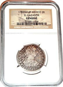 1783 Spanish Colonial 2 Reales El Cazador Shipwreck Coin,NGC Certified & Story
