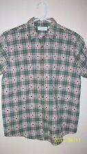 ladiesMedium Christopher & banks  apple plaid shirt  short sleeve 8 button down