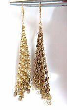 28.15ct Natural Fancy color briolette diamond dangle earrings 18kt Mesh