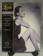 Levante Eclipse sheer to waist tights pantyhose satin matt sandal toe 15D  M