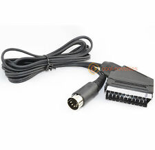 COMMODORE C64 / 64 / 128 SCART VIDEO CABLE / TV AV LEAD - 2 METRE LENGTH