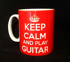 KEEP CALM AND PLAY GUITAR CARRY ON GIFT MUG CUP MUSIC ACOUSTIC ELECTRIC ELECTRO