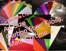 Bubble Free A4 0.2mx0.3m 2D 3D 4D Carbon Fibre Gloss Matt Powder Chrome Vinyl