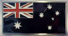 BELT BUCKLE - Australian Flag - Heavy Duty - Silver Border - Excellent Quality!