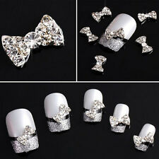 20x 3D Alloy Butterfly Bow Tie Slices For Nail Art Tips DIY Decorations Hoc