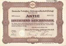 Deutsche Tafelglas AG  Detag 1938  Fürth - Bayern