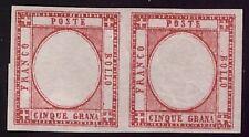 NAPOLI PROVINCE 1861 - 5 Gr. n. 21l VARIETA' COPPIA NUOVA RARA CERT.AVI € 4.000