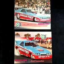 1984 1985 Roland Leong Hawaiian Dodge Charger Funny Car handout cards Dunn Mopar