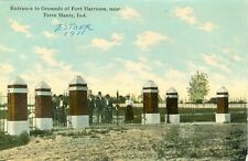 Terre Haute IN Entrance to Grounds of Fort Harrison 1911