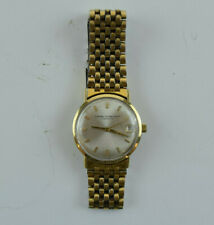 Vintage Girard Perregaux Cyromatic 14K Wristwatch with Day and Omega Band