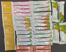 36x Arbonne Essentials Fizz Sticks, Chocolate Bar, Skin Elixir, Digestion Plus