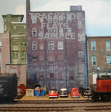 #301 O scale background building flat  BACKSIDE #1  *FREE SHIPPING*