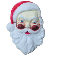 "UNION Products 22"" Santa Clause Face Head Hanging Lighted Christmas Blow Mold"