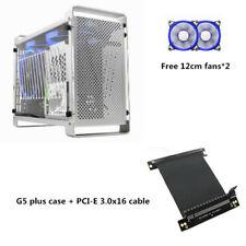 Metalfish G5 Plus Aluminum ITX Computer Case Acrylic Side Mini Cooling PC Case