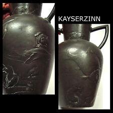 KayserZinn Vase - Jugendstil - 4021 Fische_Seerosen - pewter vase - Art Nouveau