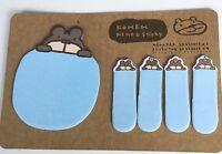 Lindo azul Animal Adhesivo Marcadores Notas Adhesiva Rotulador En Punta Memo