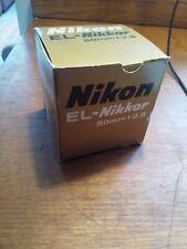 Nikon EL Nikkor 50mm F2.8 Enlarger Lens NOT DIGITAL MINT PLUS BOXED cp-2