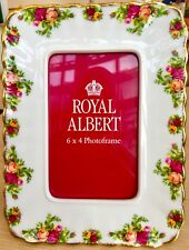 "Royal Albert ""Old Country Roses""Fine Bone China 8""x6"" Freestanding Picture Frame"