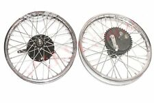 Triumph 350 Front Rear Wheel Rim With Brake System & Stainless Steel Spokes CAD