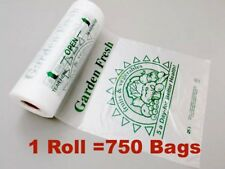 1 Roll HDPE Plastic Kitchen Fruit Vegetable Food Produce Bags 12x17 750 Bags/RL
