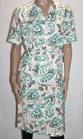 formation Brand Retro Style Floral Belted Day Dress Size 10 BNWT #SQ17