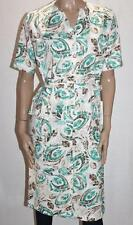 formation Brand Jade Printed Button Front Belted Day Dress Size 10/S BNWT #SQ37