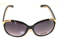 Lunettes de soleil femme NOIR or doré UV400 Sun glasses Schwarze Sonnenbrill G18