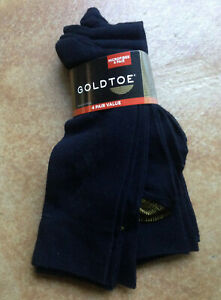 New Gold Toe Mens 4 Pair Pack Crew Dress Sock Microfiber, Black,10-13