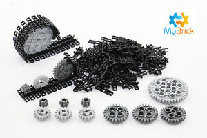 Lego Genuine Technic Link Tread 3873 x 100 and 14x Gears Pack - Free Postage