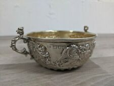 Searle & Co Hallmarked Silver Bowl With Coat of Arms Design GOD GRANT GRACE